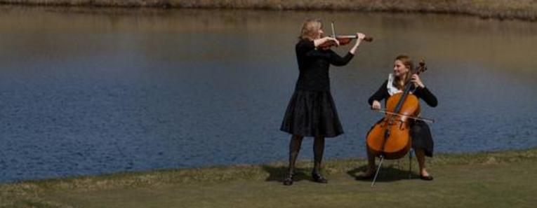 Violin and Cello at The Golf Club of Cape Cod